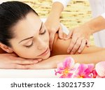 Young Woman On Spa Massage Of...