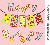 postcards birthday with five... | Shutterstock .eps vector #130222643