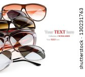 collection of sunglasses on... | Shutterstock . vector #130231763