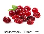 Dried and fresh cranberry - stock photo