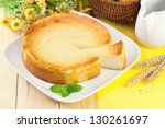 fresh cheesecake on a plate | Shutterstock . vector #130261697