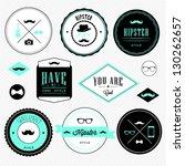 hipster style | Shutterstock .eps vector #130262657
