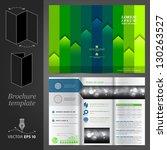 vector green brochure template...   Shutterstock .eps vector #130263527