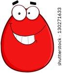 smiling egg cartoon character | Shutterstock .eps vector #130271633