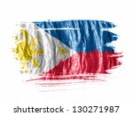 philippine flag  painted with... | Shutterstock . vector #130271987