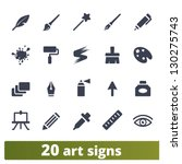 graphic tools signs  vector set ...