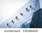 group of workers cleaning... | Shutterstock . vector #130286603