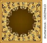 ornate gold frame   Shutterstock .eps vector #130294613