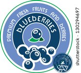 blueberries label. vector... | Shutterstock .eps vector #130294697