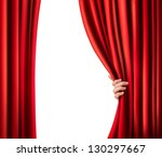 background with red velvet... | Shutterstock .eps vector #130297667