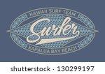 surfing badge  print for boy...   Shutterstock .eps vector #130299197