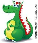 dragon  vector illustration in... | Shutterstock .eps vector #130309223