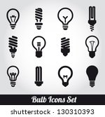 light bulbs. bulb icon set | Shutterstock .eps vector #130310393