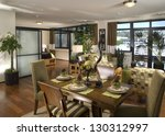elegant dinning room  kitchen... | Shutterstock . vector #130312997