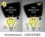 great idea banner design. two... | Shutterstock .eps vector #130319483