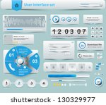 ui elements design white  web... | Shutterstock .eps vector #130329977