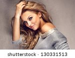 portrait of wonderful young... | Shutterstock . vector #130331513