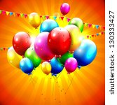 Flying Colorful Balloons On...