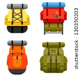 set of camping and military... | Shutterstock .eps vector #130350203