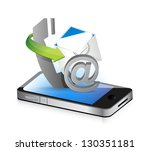contact us smartphone illustration design concept graphic - stock photo