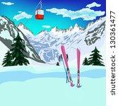 winter sports ski rest in... | Shutterstock . vector #130361477