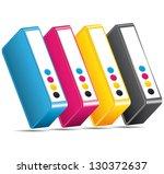 cmyk ink toners. cartridges... | Shutterstock .eps vector #130372637