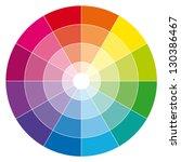 Color Wheel. Illustration Guide.