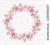card with floral pattern and... | Shutterstock .eps vector #130400207