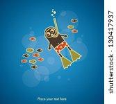 diving card | Shutterstock .eps vector #130417937