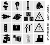 electricity and energy icon set....   Shutterstock .eps vector #130420553