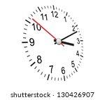 clock | Shutterstock .eps vector #130426907