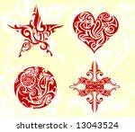 tribal art set | Shutterstock .eps vector #13043524
