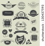 set of retro vintage labels ... | Shutterstock .eps vector #130437593