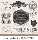 calligraphic design elements... | Shutterstock .eps vector #130437683