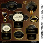retro black gold label can be... | Shutterstock .eps vector #130437707
