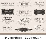 calligraphic design elements... | Shutterstock .eps vector #130438277
