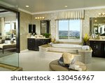 bath room interior home... | Shutterstock . vector #130456967