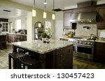 kitchen interior home... | Shutterstock . vector #130457423
