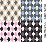 argyle pattern set | Shutterstock .eps vector #130476593