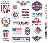 set of various made in the usa...   Shutterstock . vector #130479413