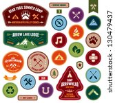 set of scout badges and merit... | Shutterstock . vector #130479437
