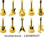 vector golden guitars  ...