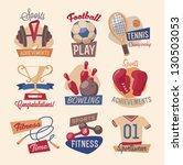 retro gym emblems | Shutterstock .eps vector #130503053