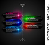 glossy timeline template with...   Shutterstock .eps vector #130508603