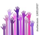 Violet Colorful Up Hands ...