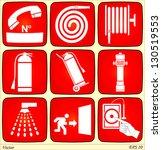 fire alarm signs | Shutterstock .eps vector #130519553