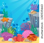 image with undersea topic 3  ... | Shutterstock .eps vector #130535663