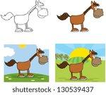 horse cartoon character. vector ... | Shutterstock .eps vector #130539437
