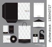 stationery design set in vector ... | Shutterstock .eps vector #130543727
