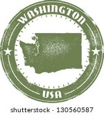 washington state stamp | Shutterstock .eps vector #130560587